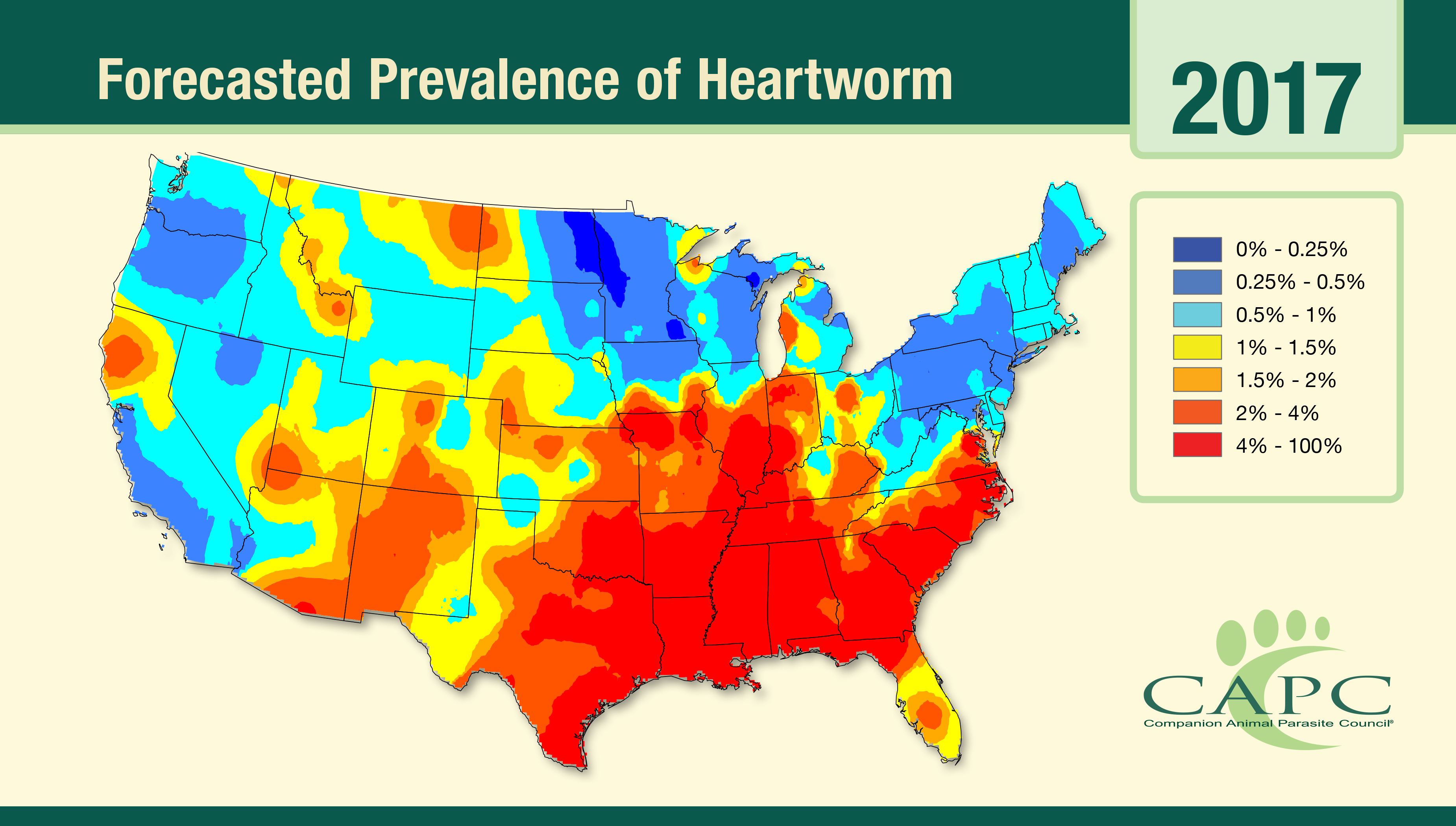 The Forecasts Are In:  2017 Will Be a Big Year for Heartworm Disease and Lyme Disease