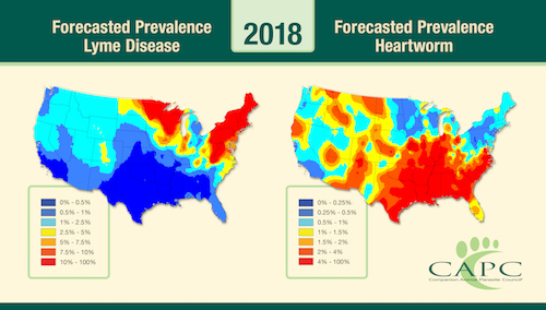 The Forecasts Are In:  2018 Predicts Heartworm and Lyme Disese to Be More Problematic for Pets